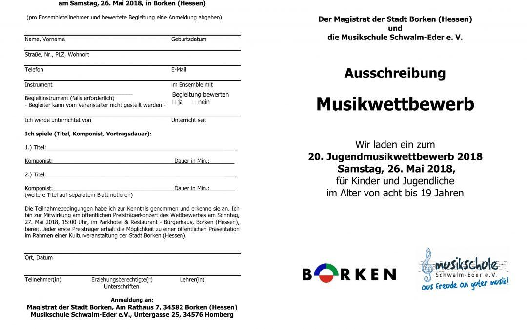 Ausschreibung Musikwettbewerb